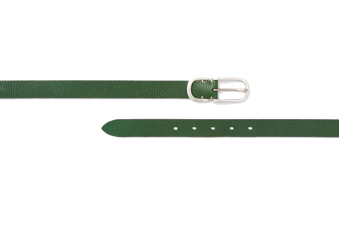 PEWTER NARROW BELTS|GREEN