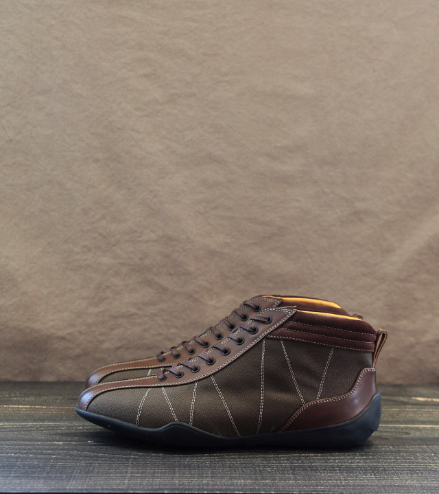 GRAND PRIX HI-TOP|KAHKI & BROWN