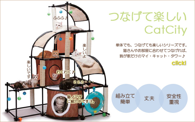 組み立てるキャットタワー CatCity