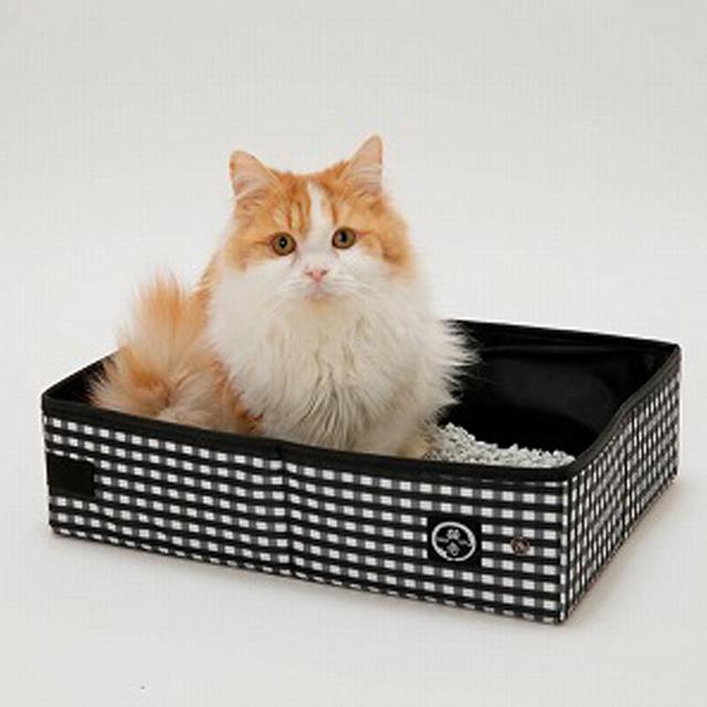 猫と小型犬用ポータブルトイレ