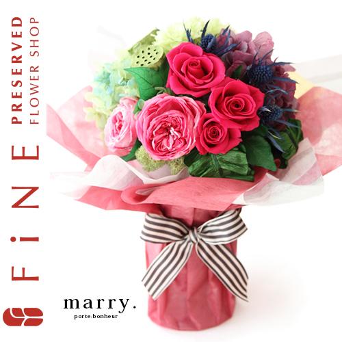 マリー プリザーブドフラワー/内祝い/出産祝い/結婚祝い/店舗ディスプレイ/開店祝い【有料バッグ:L対応】