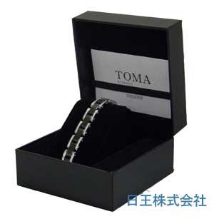 TOMA 14M・14F 男性or女性 黒セラミックスBダイヤ 磁気ブレスレット シルバー【期間限定 送料無料】