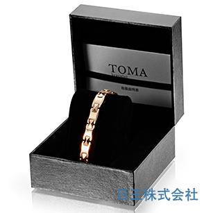 TOMA 3M・3F 磁気ブレスレット ピンク 男性or女性 ゲルマニウム【期間限定 送料無料】