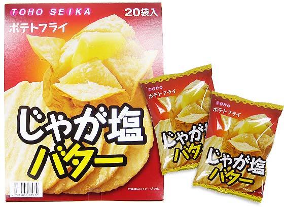 【駄菓子のまとめ買い・スナック系駄菓子】 東豊 ポテトフライ じゃが塩バター(20個入)