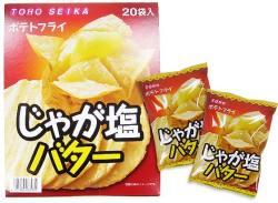 【駄菓子のまとめ買い・スナック系駄菓子】ポテトフライ じゃが塩バター(20個入)【東豊】
