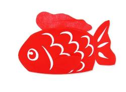 【河中堂】  祭金魚巾着(紐タイプ) お菓子の詰め合わせ