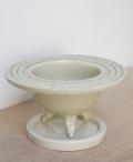 鉢は樹や草花の表情をがらっと変える【植木鉢 陶器丸白鉢(下皿付) 直径15.5cm】