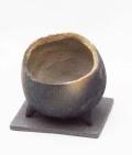 炭化焼締丸鉢下皿灰2013m