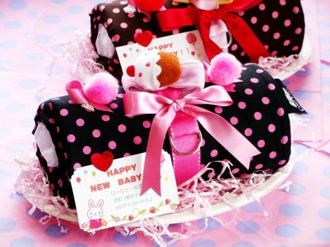 出産祝い 出産祝 おむつロールケーキ 女の子