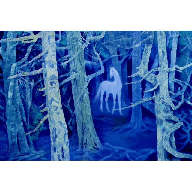 東山魁夷 白馬の森 彩美版(R) プレミアム