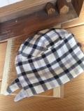 リバーシブル ブラックチェック バンダナ帽子