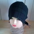Wガーゼバンダナ帽子(ブラックウォッチ)
