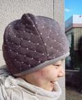 ふんわり可愛いリバーシブルコットン帽子(ブラウン)