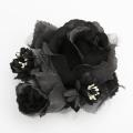 【あす着対応】お宮参り コサージュ BH-003CO ヘアアクセサリー ブラック 黒 フラワー レース 可愛い 髪飾り レディース 女性用 華やか