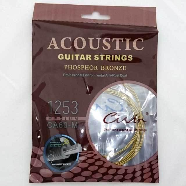 【送料無料メール便】Civin アコースティックギター弦6弦セット PHOSPHOR BRONZE弦 ミディアム CA60-M