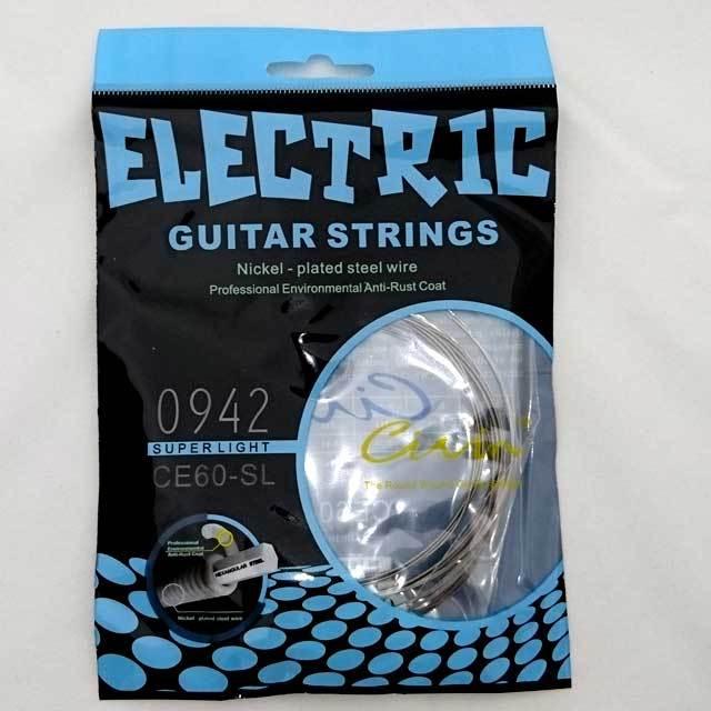 【送料無料メール便】Civin エレキギター弦6弦セット ニッケルメッキスチール弦 スーパーライト CE60-SL