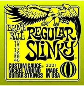 【送料無料メール便】ERNIE BALL アーニーボールエレキギター弦 2221 Regular Slinky レギュラースリンキー 1SET