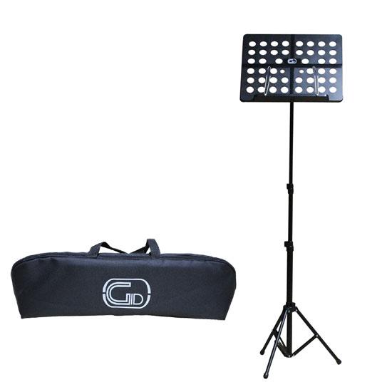 【送料無料】軽量折りたたみ式オーケストラ譜面台 ブラック GID Foldable Small Music Stand GL-05 (持ち運びケース付)