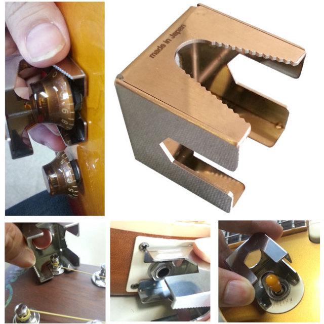 ギター調整に便利ツール!5つの機能搭載!<ギターナットキューブ> ホスコ