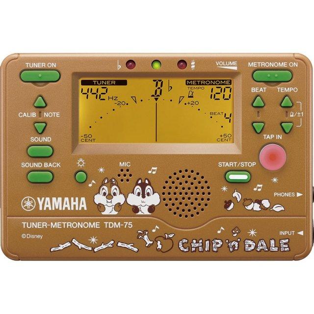 【送料無料メール便】YAMAHA ディズニーコラボシリーズ チップ&デール メトロノーム・チューナー TDM-75DCD