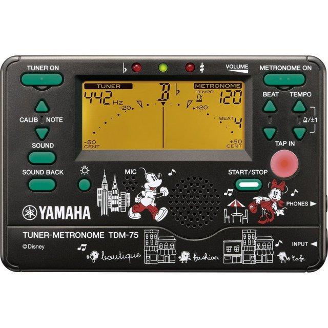 【送料無料メール便】YAMAHA ディズニーコラボシリーズ ミッキー&ミニー メトロノーム・チューナー TDM-75DMN3