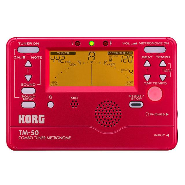 【送料無料メール便】KORG メトロノーム・チューナー TM50レッド(赤)  TM-50-RD