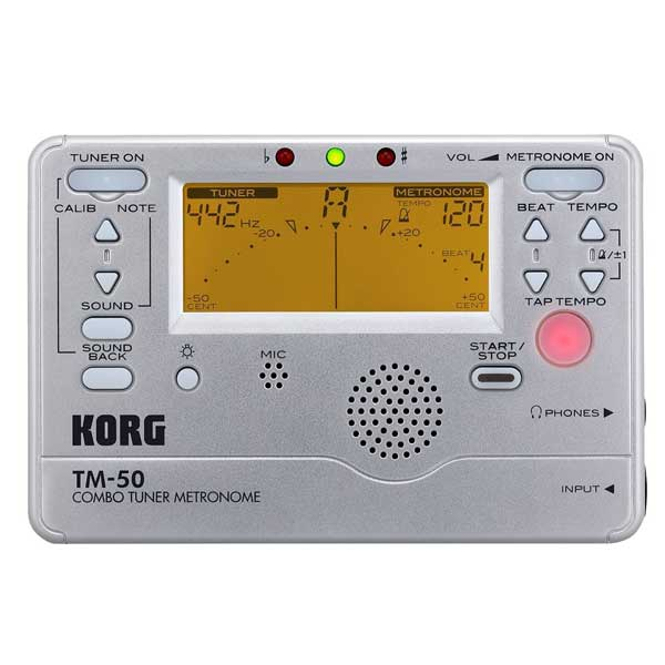 【送料無料メール便】KORG メトロノームチューナー TM-50SL シルバー