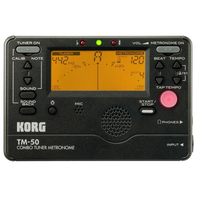 【送料無料・郵便】KORG メトロノームチューナー TM-50BK カラー:ブラック
