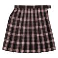 ▼ビーステラ スクールスカート (ブラウン×ピンク・BS502)