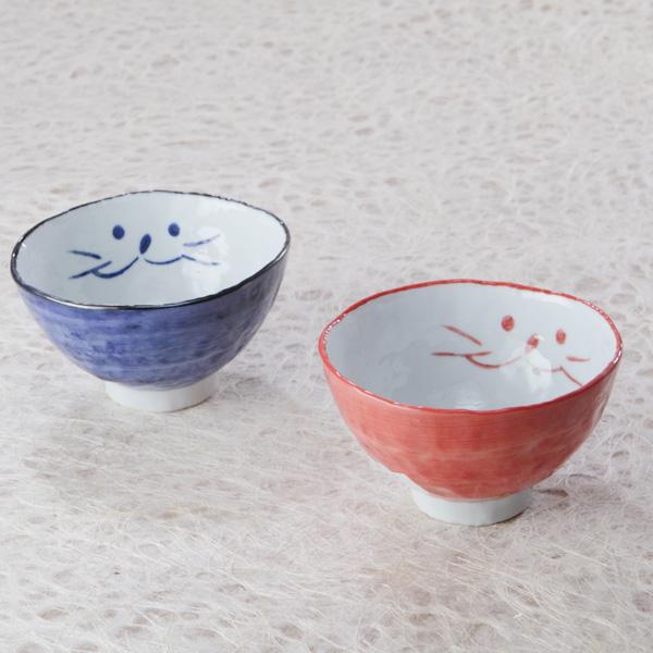 猫,夫婦茶碗,ギフト,小茶碗,ペア