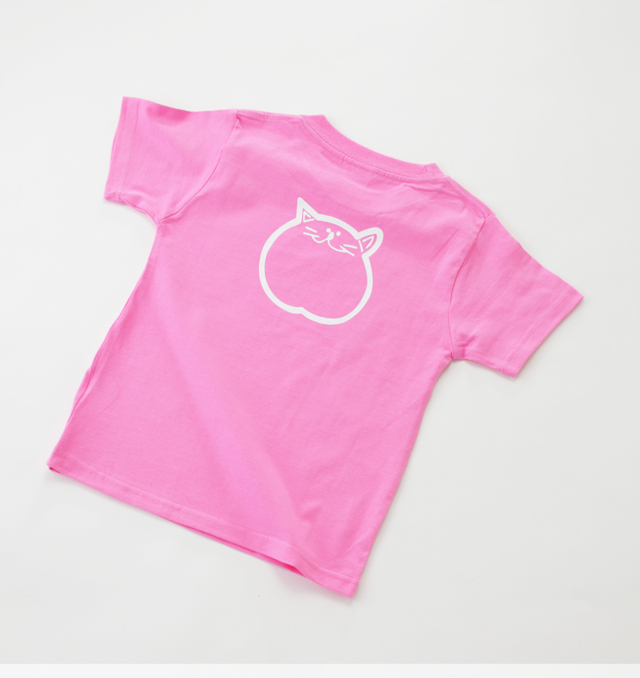 120cm ピンク 子供 Tシャツ のらや 猫