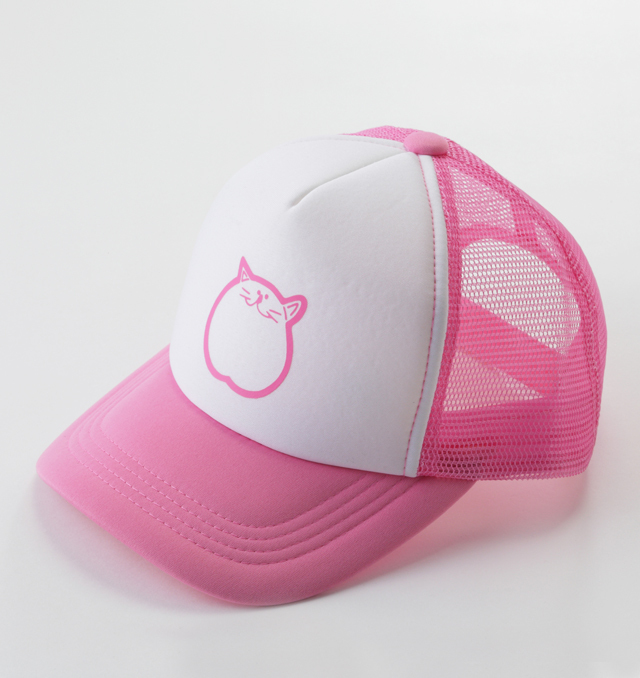 帽子 ピンク 猫 のらや キャップ