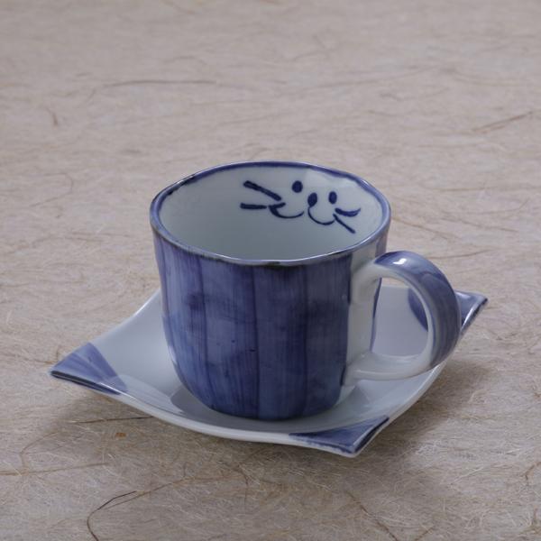 ブルーコーヒーカップセット