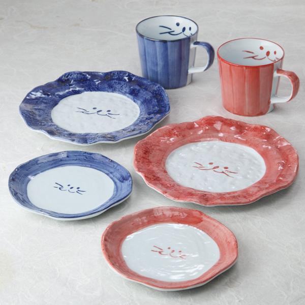 らいおん皿;親子;デザート皿;マグカップ;猫食器;のらや