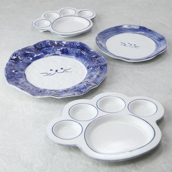 にくきゅう皿,ライオン皿,デザート皿,猫食器,のらや