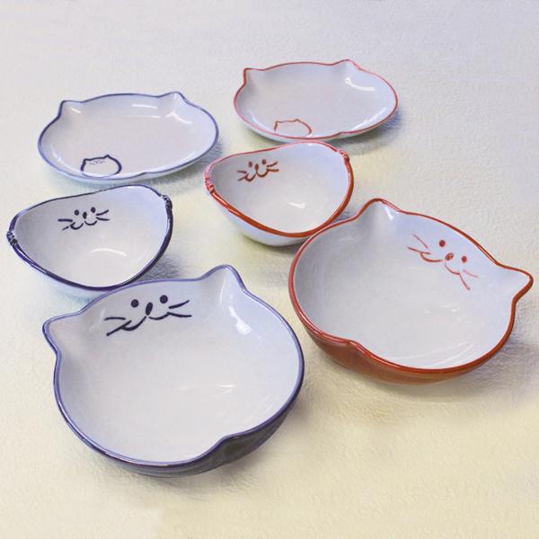 猫食器,食器セット,浅鉢,バスケット,楕円皿,ペア食器