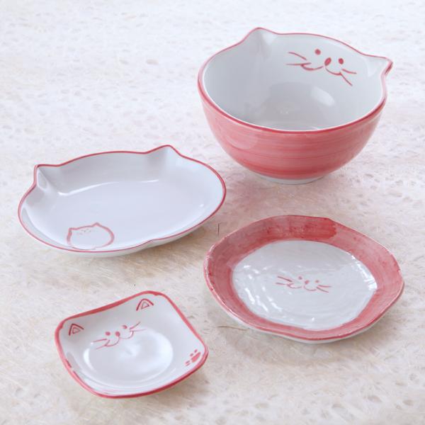 猫食器,ひなまつり,のらや,小丼,楕円皿,デザート皿