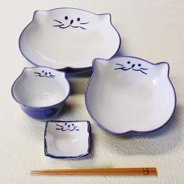 食器セット,セット,中鉢,浅鉢,ご飯茶碗,猫食器