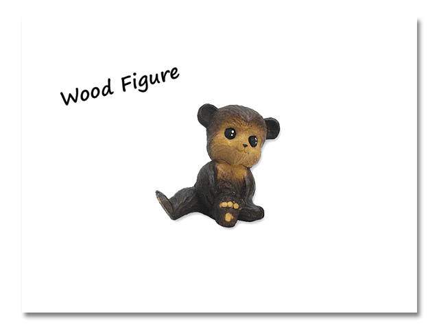 小熊出没 WOOD CRAFT FIGURE 青