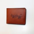 仁義なき戦い「ロゴ」二つ折り本革財布(ブラウン)