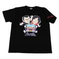 【DM便可】トラック野郎(カラーイラスト)Tシャツ(ブラック)