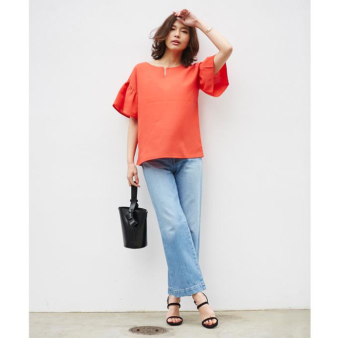 4月21日午前0:00新色&再販【Flare sleeve blouse】レディース フレア ブラウス