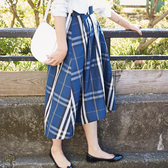 2月17日午前0:00再販【Check back tale skirt】レディース チェック スカート