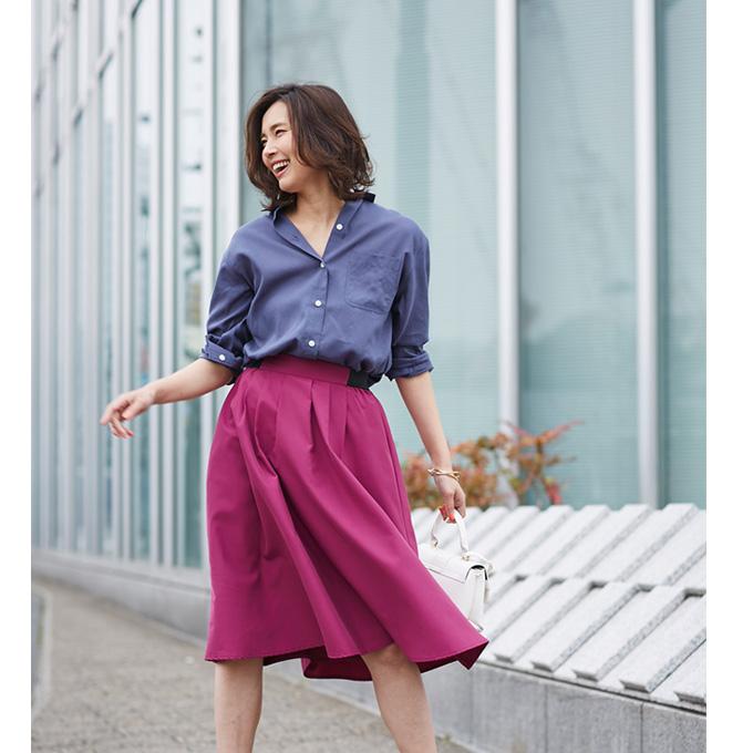 4月26日午前0:00再販JJ1月号掲載【Tuck mimore skirt】レディース  タック ミモレ スカート