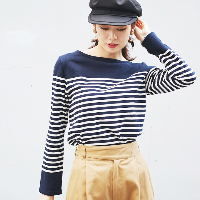 【Boat neck border tops】ボートネック ボーダー トップス