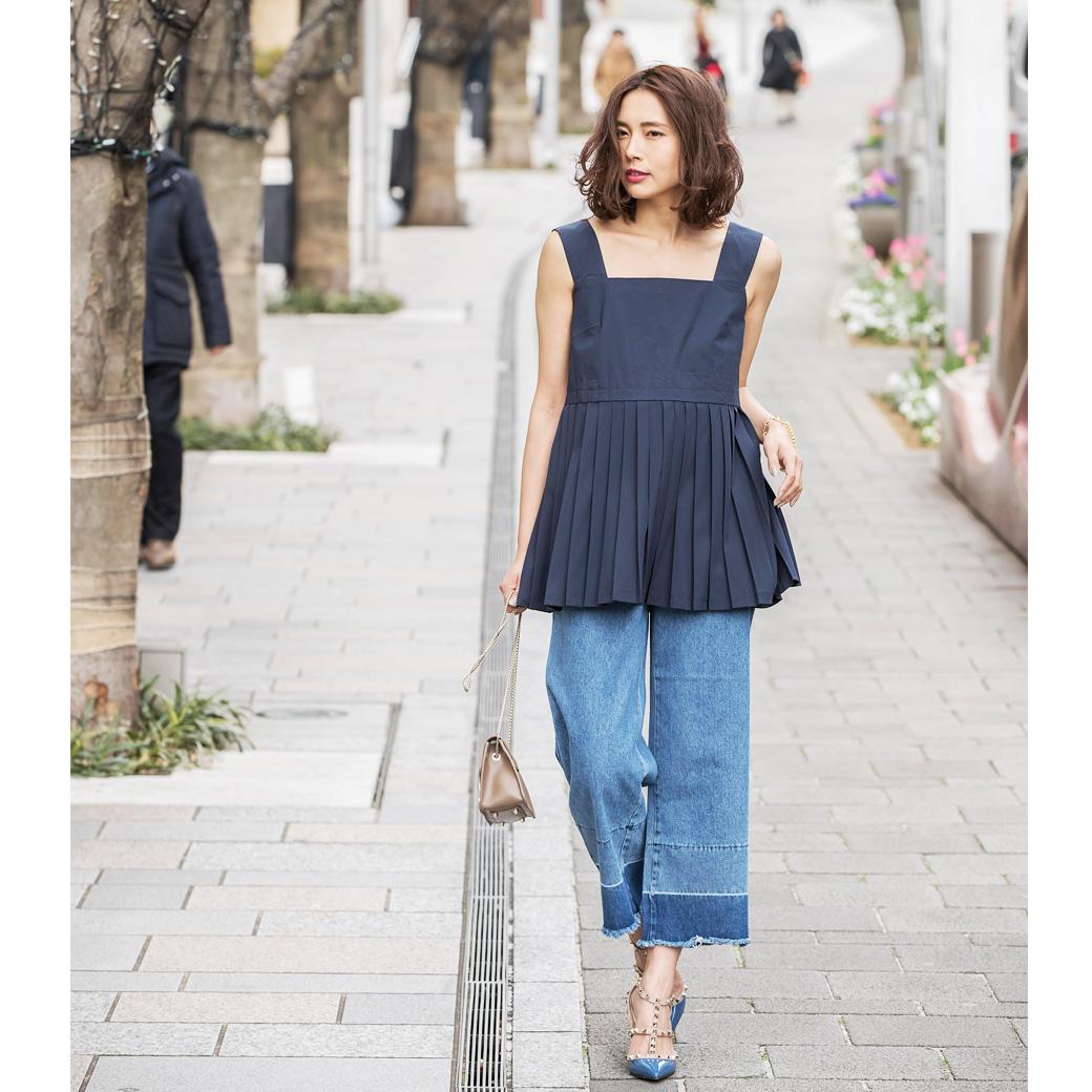 【Design denim pants】レディース  デニム パンツ