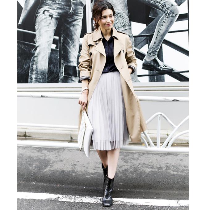 1月26日午前0:00新色&再販!《WITH3月号掲載》《CLASSY.1月号掲載》《CLASSY.12月号掲載》他雑誌掲載多数【Pleats Tulle skirt】