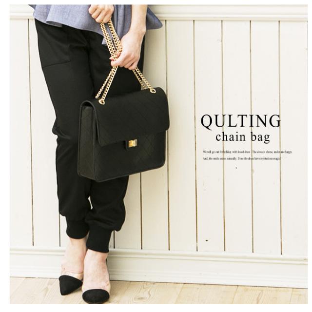 【Quliting chain bag】レディース キルティング バッグ*SALE品につき返品/交換/注文確定後の変更キャンセル不可