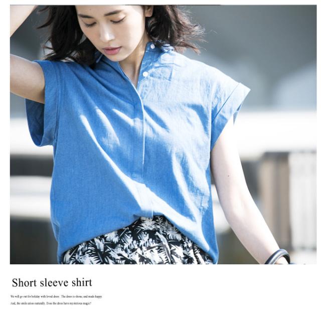 【Short sleeve shirt】レディース ショートスリーブ シャツ