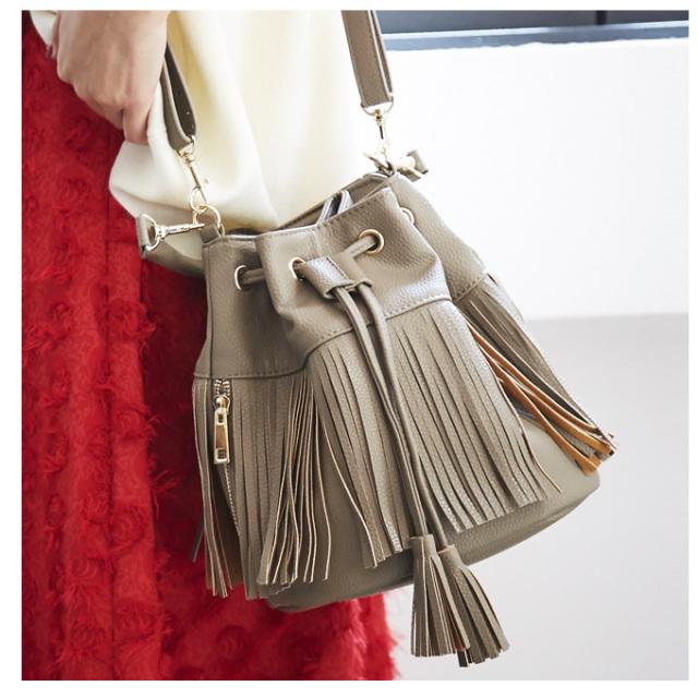 ≪Domani11月号掲載≫【2way fringe bag】レディース フリンジ バッグ